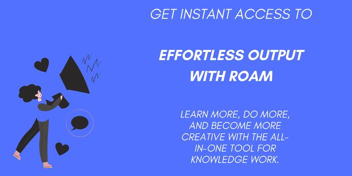 Get access to the effortless output course (1)