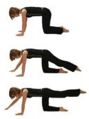 Balance yourselfwith 4 Point kneeling